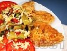Рецепта Панирани вегетариански мариновани соеви шницели